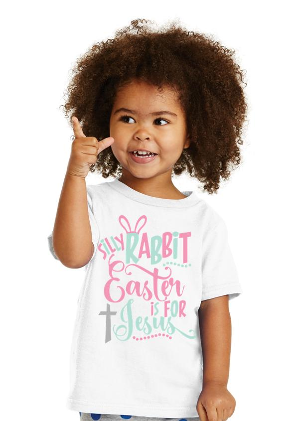 Kid's white tee for Easter