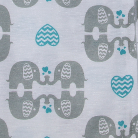 Muslin eLOVEphant Changing Pad Cover