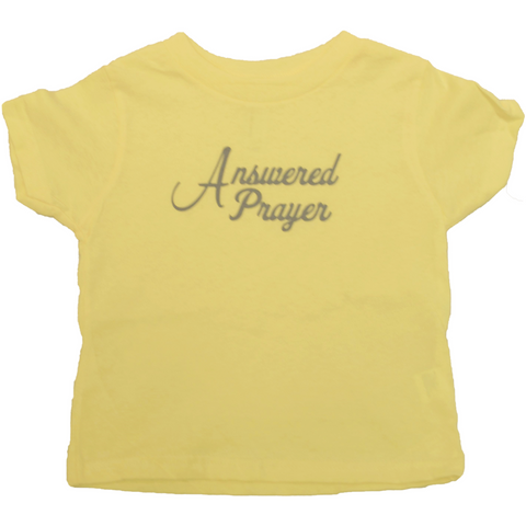 """Answered Prayer"" T-Shirt in Yellow"