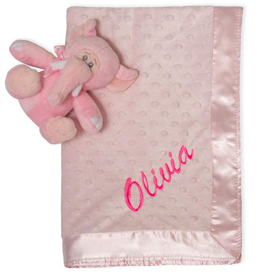 Personalized Embroidered Baby Blanket (Pink)