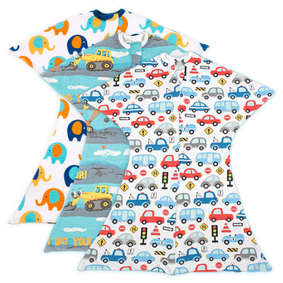 Bundle of 3 - Boy Bundle Zipadee-Zip - Elephants In Town