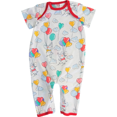 cute baby one piece with balloons pattern