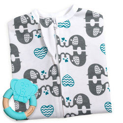 eLOVEphant Zipadee-Zip + Elephant Teether (Blue)