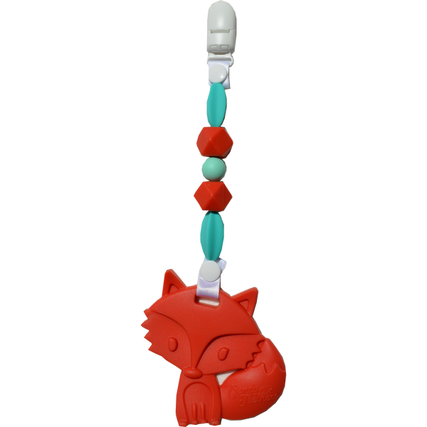 ['Fox Red Wearable Clip On Teether', 'Stylish pacifier for teething']
