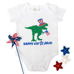 Happy 4th of July Dino Bodysuit