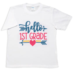 Hello First Grade White Tee