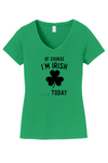 Womens Happy St Patricks Day Black Text