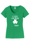 Womens Happy St Patricks Day White Text