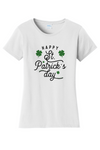 Womens Happy St Patricks Day BLK/GN Text