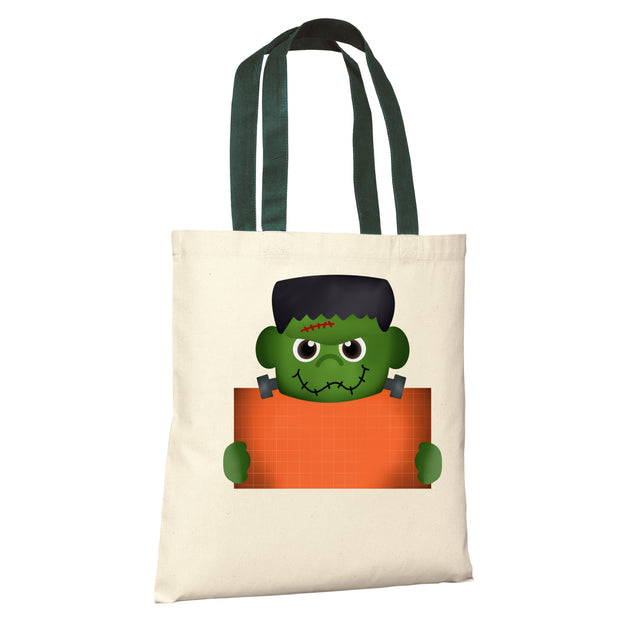 HALLOWEEN Candy PERSONALIZED Treat Bags Tote - Monster
