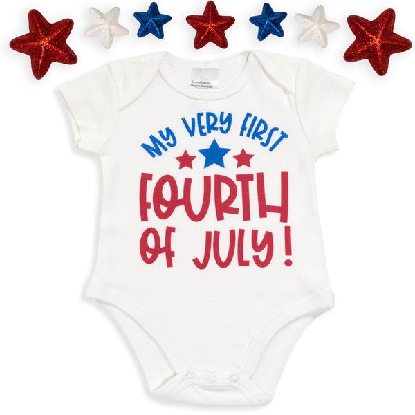 My Very First Fourth of July Baby Bodysuit