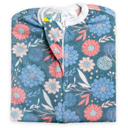 Navy Flower Zipadee-Zip - Lightweight