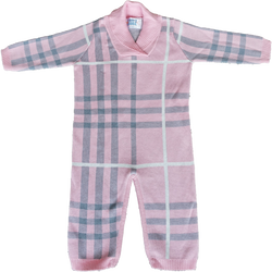Hand-Knitted Pink Plaid Zippy OneZ