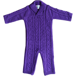 Hand-Knitted Sophisticated Purple Knot Zippy OneZ