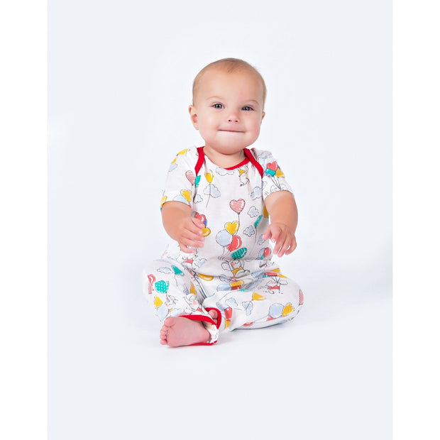 balloons pattern baby one piece