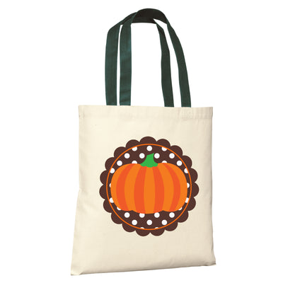HALLOWEEN Candy PERSONALIZED Pumpkin Treat Bag Tote - Girl