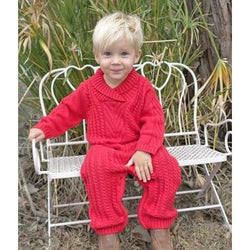 Hand-Knitted Sophisticated Red Knot Zippy OneZ