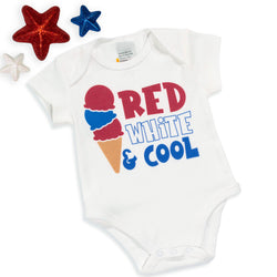 Red, White, and Cool Baby Bodysuit