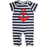 Stylish baby outfit with red anchor