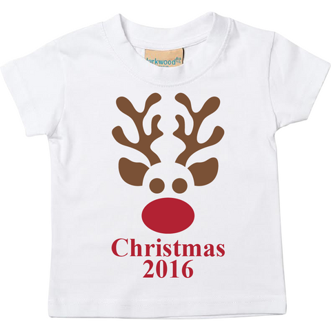 Short Sleeve Christmas Reindeer T Shirt 2016