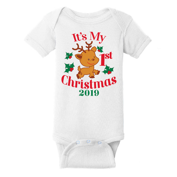 My First Christmas 2019 Short Sleeve One Piece