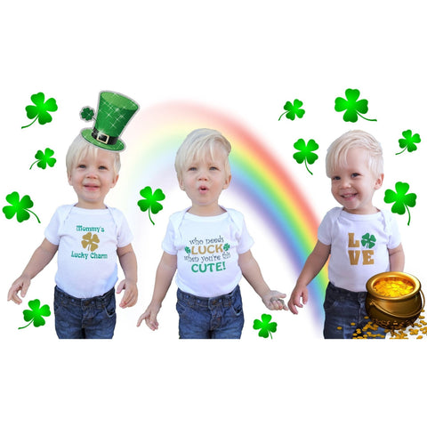 St. Patrick's Day Set of 3 One Pieces