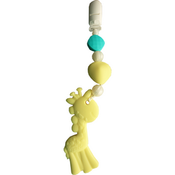 """Gabriel Giraffe"" Wearable Clip-On Teether"