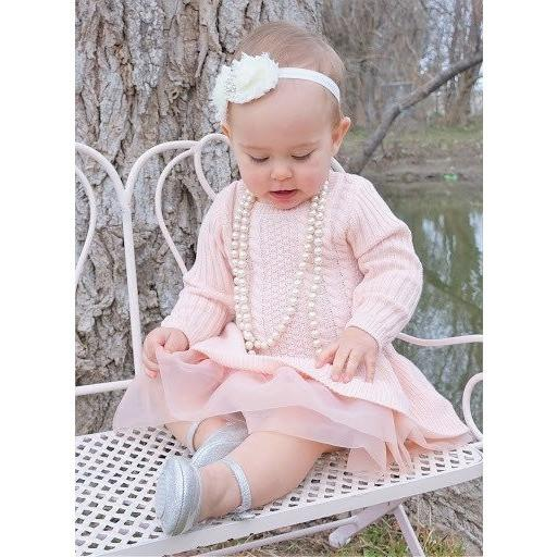 soft pink tutu one piece for baby girls