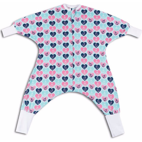 Hearts pattern toddler pajamas
