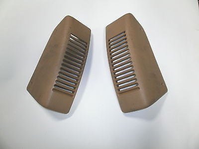 Jeep Wrangler TJ Saddle Tan RH + LH  Dash Speaker Cover Vent 97-06 Set