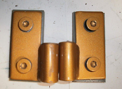Jeep Wrangler TJ Lower Door Pin Hinges Bracket 97-06 Set OEM Inca Gold