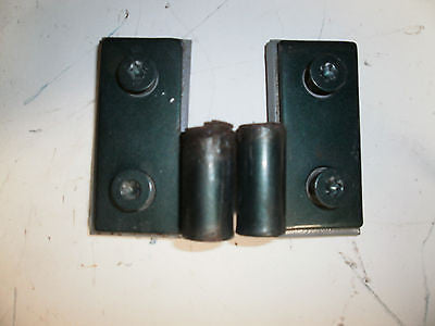 Jeep Wrangler TJ Lower Door Pin Hinges Bracket 97-06 Set OEM Shale Green