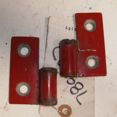 Jeep Wrangler TJ Lower Door Pin Hinges Bracket 97-06 Set OEM Red