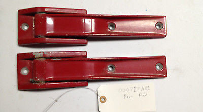 Pair Jeep Wrangler TJ Tailgate Hinges 97-03 Flame Red OEM Ships Free