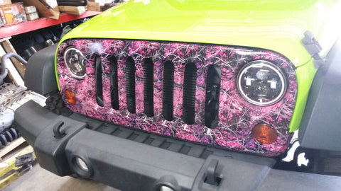 Wrangler JK Jeep Camo Grill Cover Muddy Girl Grille Classic Camouflage Grill