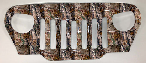 Aggressor Angry Jeep Camo Grill Cover TJ or LJ Wrangler Grille Camouflage