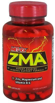 Met Rx ZMA Mineral Support ZINC, MAGNESIUM AND B-6 - 90 Capsules Met-Rx