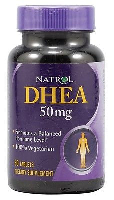 Natrol DHEA 50mg Promotes a Balanced Hormone Level Energy Well Being 60 tablets