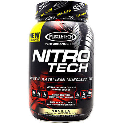 MuscleTech NITRO-TECH Performance Series Whey Protein 2 lbs CHOOSE FLAVOR