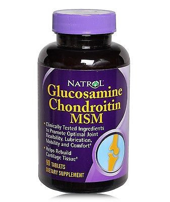 Natrol GLUCOSAMINE CHONDROITIN & MSM Joint Health 90 Tablets