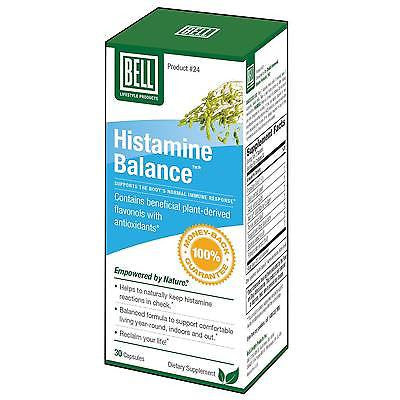 BELL HISTAMINE BALANCE 30 capsules ALLERGY RELIEF Indoor & Outdoor ALLERGIES