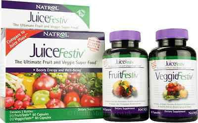 Natrol JuiceFestiv Fruit and Veggie Superfood 2 X 60 capsules JUICE PLUS+ Analog