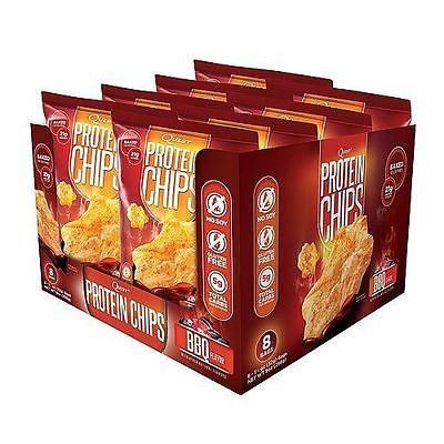 Quest PROTEIN CHIPS BOX OF 8 Bags - Choice of 3 Flavors -  21g Protein BAKED