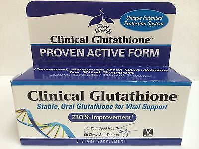 Europharma Terry Naturally Clinical GLUTATHIONE 60 Sublingual Tablets
