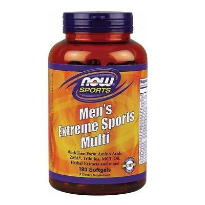 NOW Foods Men's Extreme Sports Multi Multivitamin Tribulus 180 Softgels