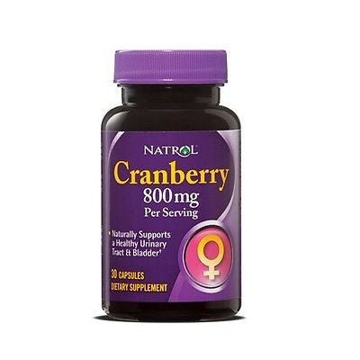 Natrol CRANBERRY 800mg Bladder Health 30 Capsules