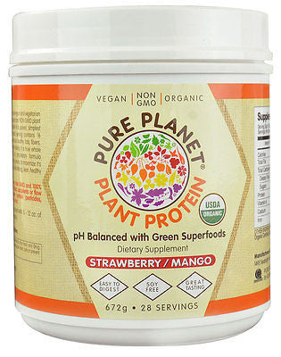 Pure Planet PLANT PROTEIN Vegan Organic Superfoods Greens 672g 28 Servings