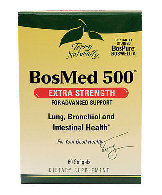 Europharma Terry Naturally BosMed 500 Sinus, Bronchial, Lung Support 60 Softgels