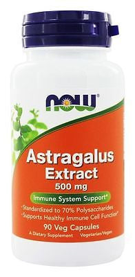 Now Foods - ASTRAGALUS EXTRACT 500 mg. - 90 vcaps ADAPTOGENIC IMMUNE SUPPORT