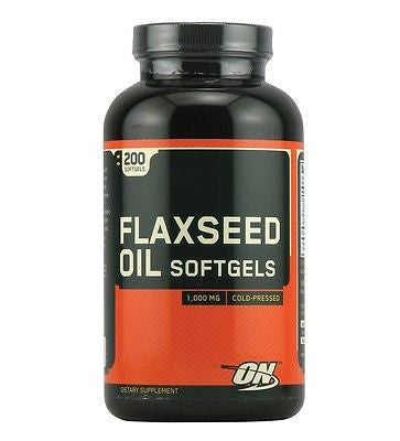 Optimum Nutrition FLAXSEED OIL 1000 mg Omega-3 Fatty Acid ALA 200 Softgels